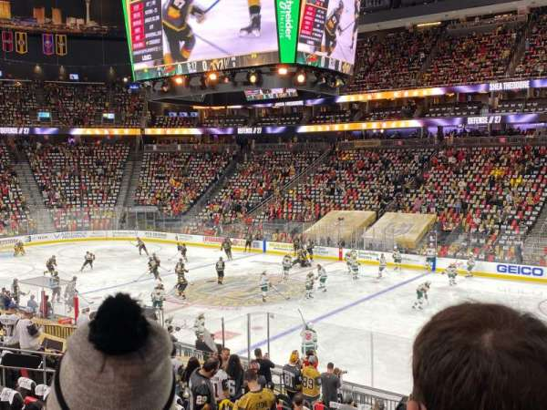 T-Mobile Arena, section: 7, row: S, seat: 18