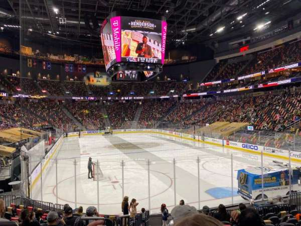 T-Mobile Arena, section: 10, row: L, seat: 1