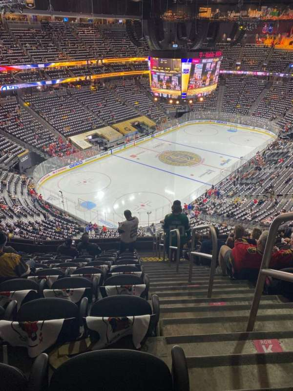T-Mobile Arena, section: 217, row: L, seat: 18