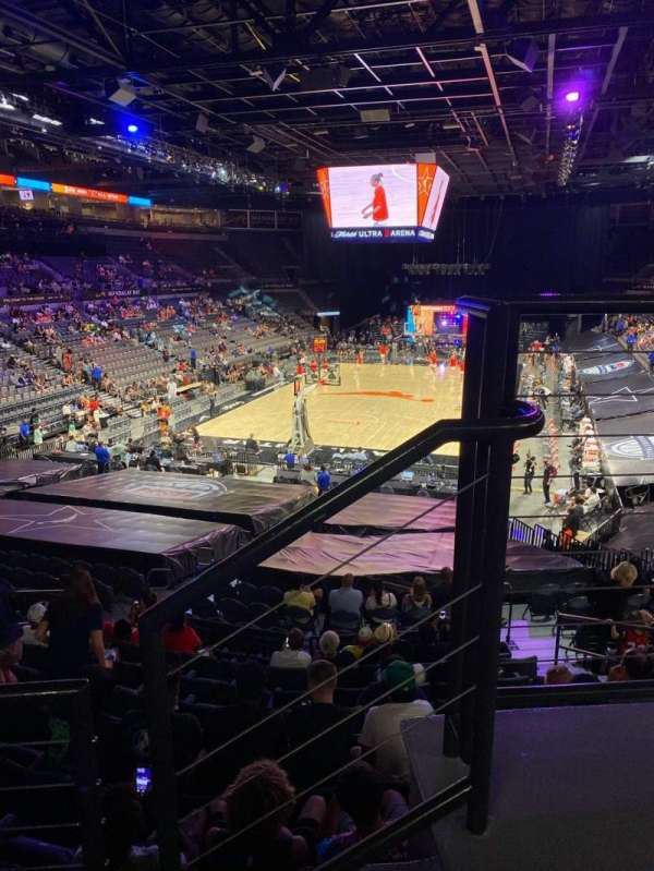 Michelob Ultra Arena, section: 214, row: B, seat: 10