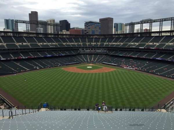Coors Field, section: 402, row: 20, seat: 25