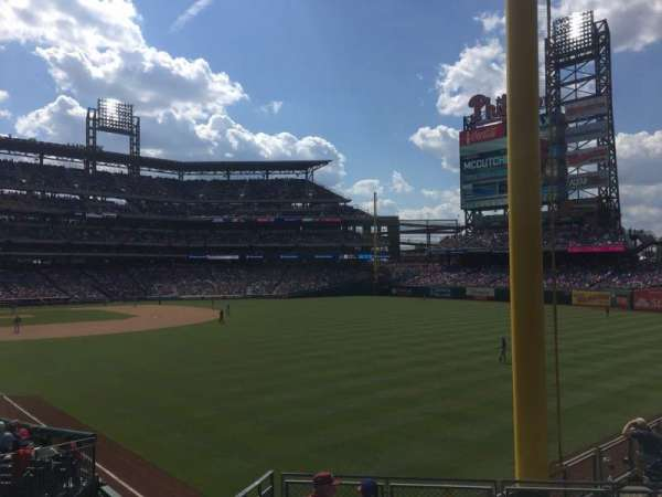 Citizens Bank Park, section: 107, row: RAIL, seat: SRP