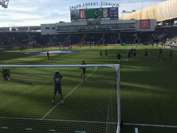 talen energy stadium, section: 136, row: 1, seat: 1