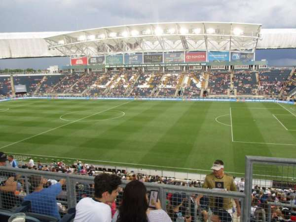 talen energy stadium, section: 304, row: 2, seat: 1