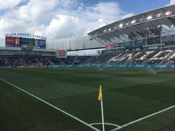 Talen Energy Stadium, section: 101, row: 1, seat: 1