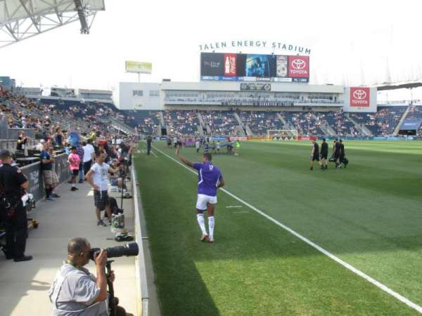 talen energy stadium, section: 101, row: A, seat: 1