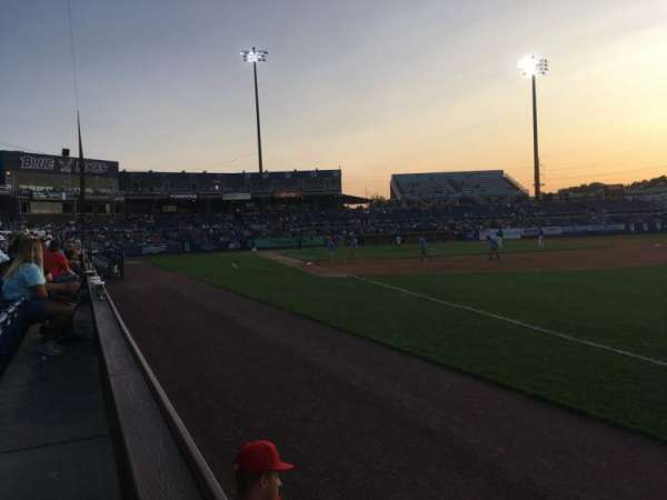 Frawley Stadium, section: 1, row: 1, seat: 5