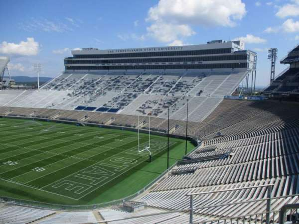 Beaver Stadium, section: SLU, row: 1, seat: 6