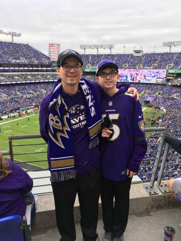 M&T Bank Stadium, section: 535, row: 1, seat: 1
