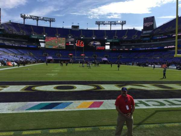 M&T Bank Stadium, section: 141, row: 1, seat: 1