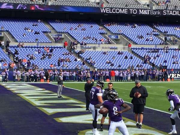 M&t bank stadium, section: 132, row: 1, seat: 5