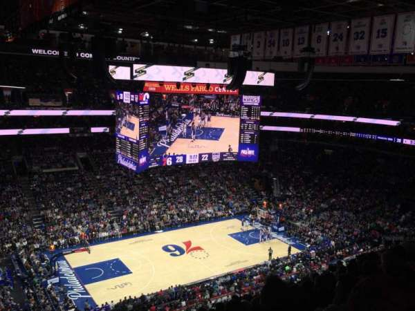 Wells Fargo Center, section: 223, row: 10, seat: 2