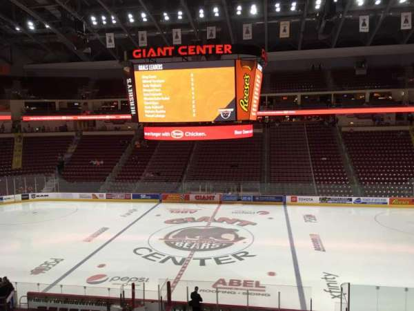 Giant Center, section: 121, row: W, seat: 20
