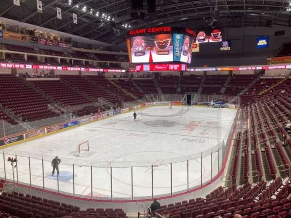 Giant Center, section: 102, row: S, seat: 3