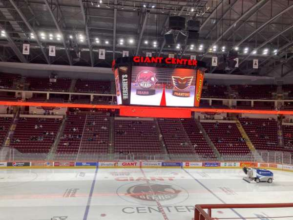 Giant Center, section: 121, row: W, seat: 1