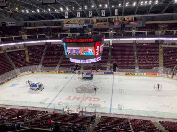 Giant Center, section: 208, row: G, seat: 1