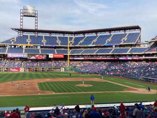 Citizens Bank Park, section: 132, row: 37, seat: 1