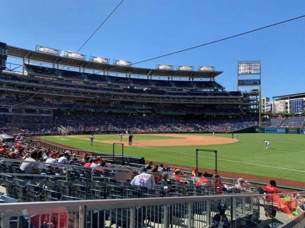 Nationals Park, section: 134, row: U, seat: 11