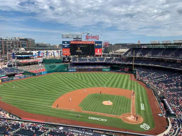 Nationals Park, section: 409, row: B, seat: 1
