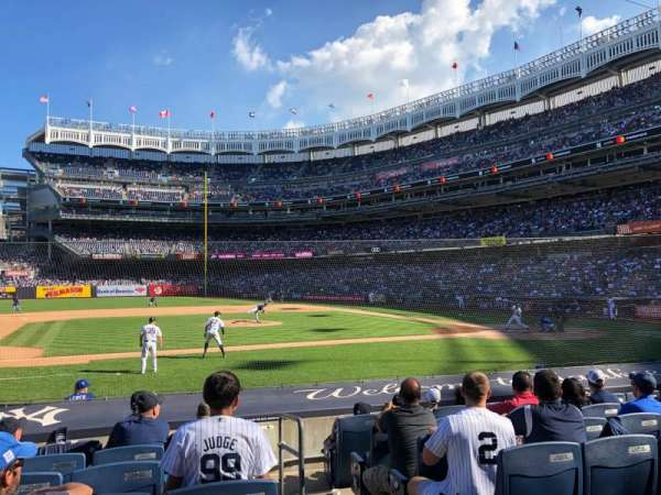 Yankee Stadium, section: 124, row: 1, seat: 11