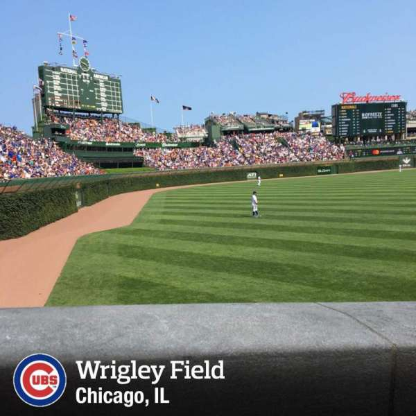 Wrigley Field, section: 101, row: 7, seat: 12