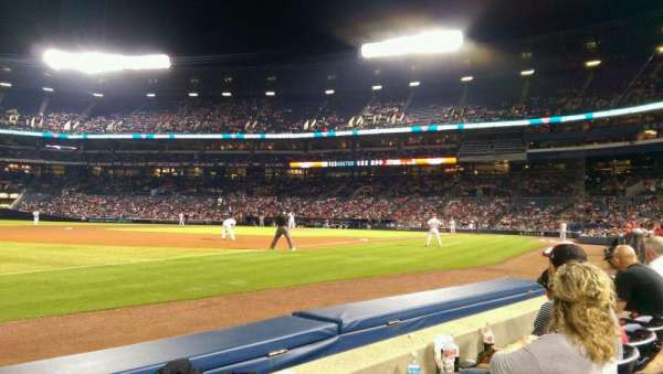Turner Field, section: 122R, row: 2, seat: 11