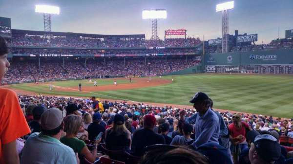 Fenway Park, section: Right Field Box 94, row: VV, seat: 25