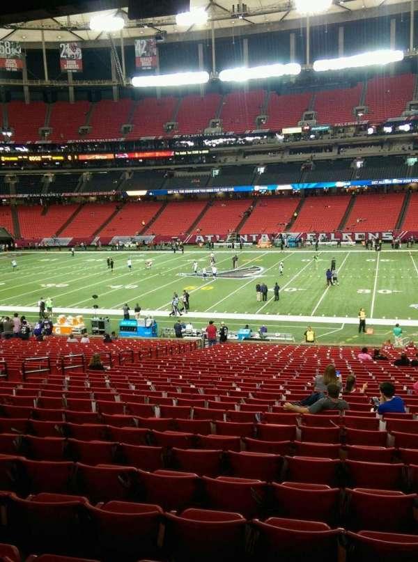 Georgia Dome, section: 134 , row: 33, seat: 13