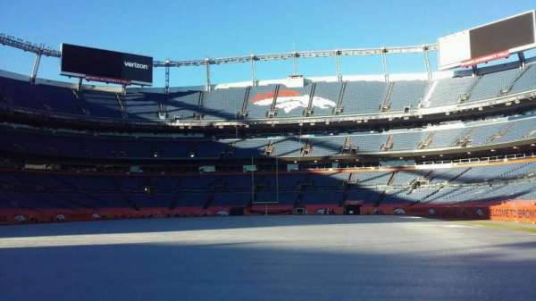 Broncos Stadium at Mile High, section: 130, row: 1