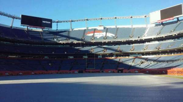 Broncos Stadium at Mile High, section: 129, row: 1