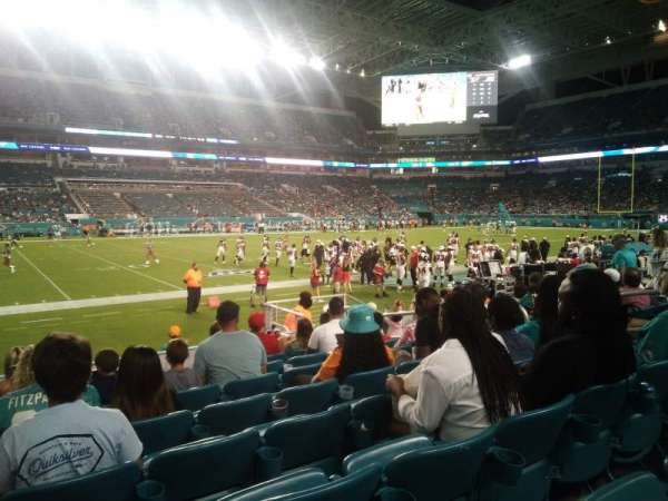 Hard Rock Stadium, section: 121, row: 8, seat: 10
