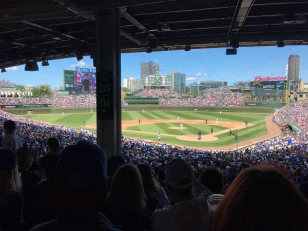 Wrigley Field, section: 216, row: 14, seat: 8