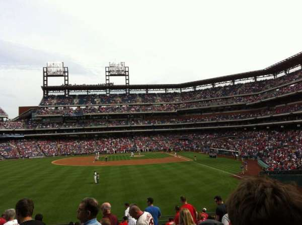 Citizens Bank Park, section: 143, row: 18, seat: 1