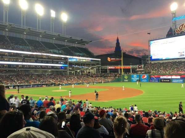 Progressive Field, section: 145, row: AA, seat: 5