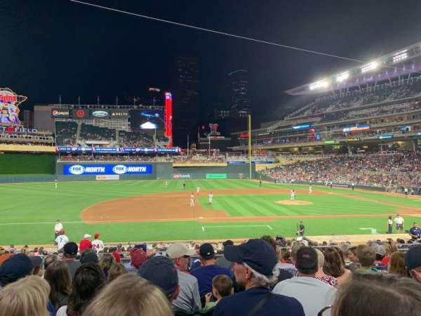 Target Field, section: 120, row: 8, seat: 17