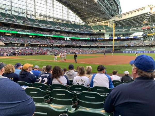 Miller Park, section: 111, row: 8, seat: 14