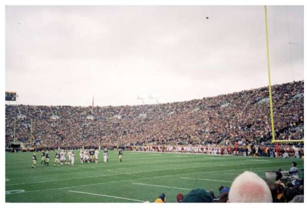Notre Dame Stadium, section: 2, row: 9, seat: 9