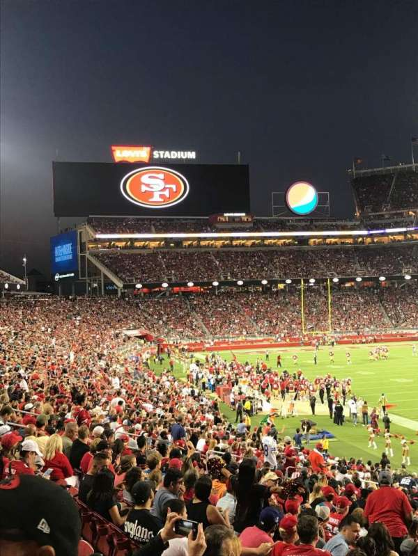 Levi's Stadium, section: 131, row: 26, seat: 1