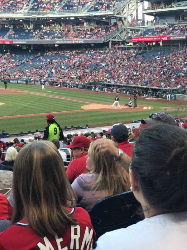 Nationals Park, section: 115, row: HH, seat: 10