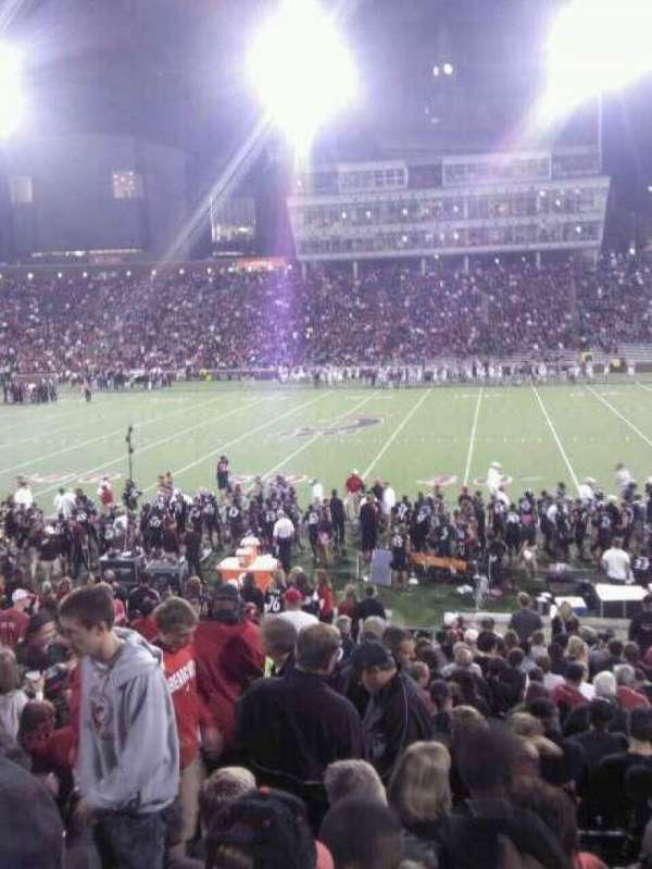 Nippert Stadium, section: 105, row: 26, seat: 19