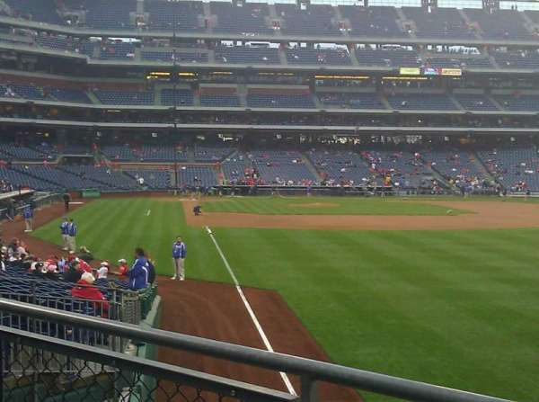 Citizens Bank Park, section: 107, row: 5, seat: 7