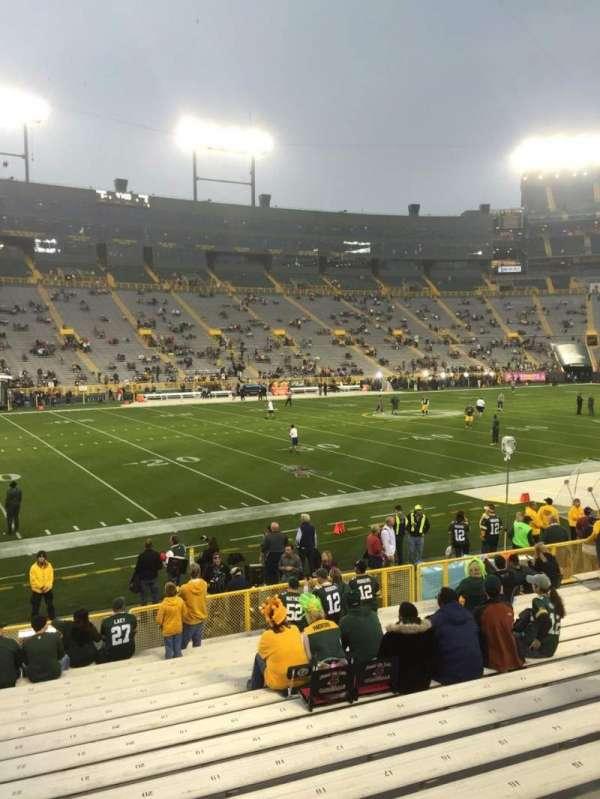Lambeau Field, section: 114, row: 18, seat: 22