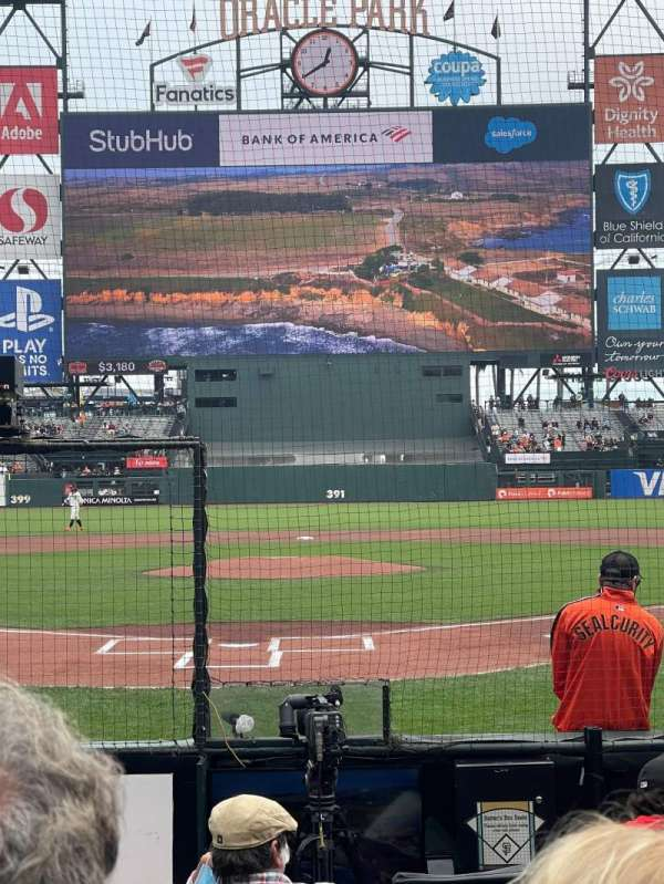Oracle Park, section: 115, row: C, seat: 4