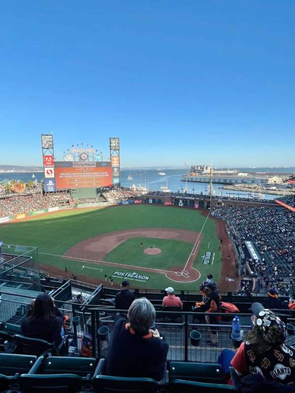 Oracle Park, section: VR319, row: 4, seat: 10