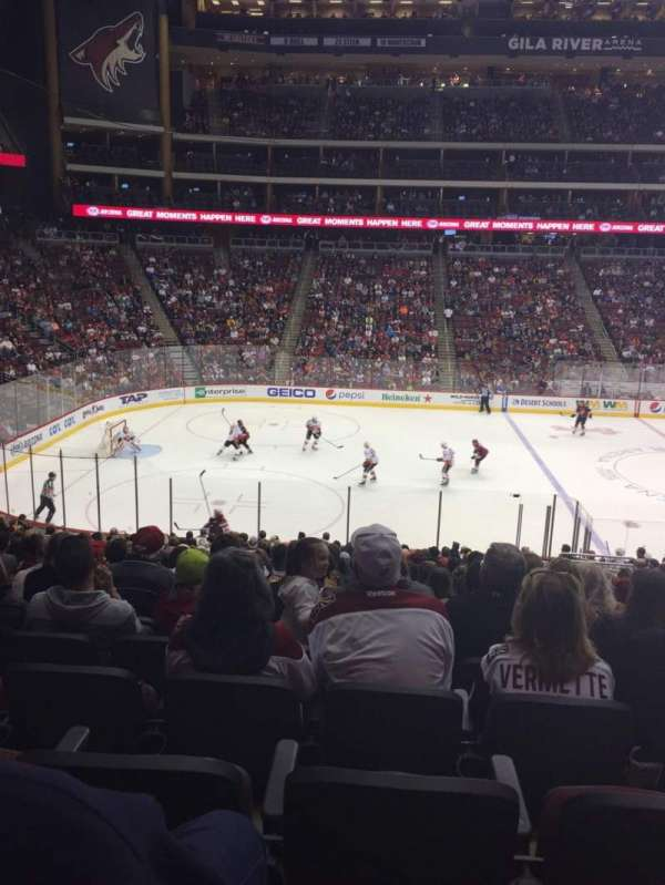 Gila River Arena, section: 102, row: W, seat: 7