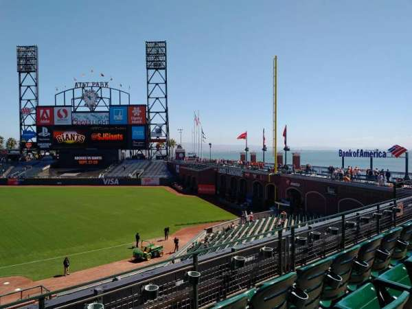 Oracle Park, section: 205, row: C, seat: 16