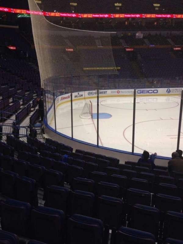 Enterprise Center, section: 106, row: K, seat: 3