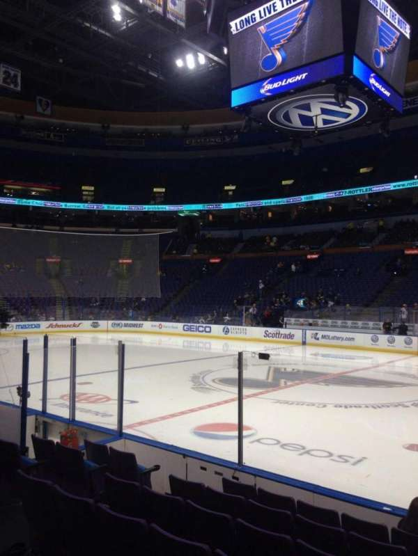 Enterprise Center, section: 115, row: G, seat: 13