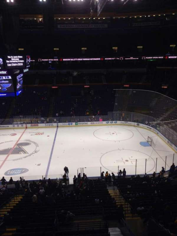 Enterprise Center, section: 302, row: A, seat: 17