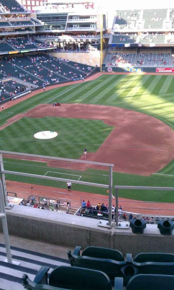 Target Field, section: 205, row: 3, seat: 19